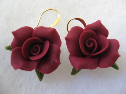 Cold porcelain adjustable earrings