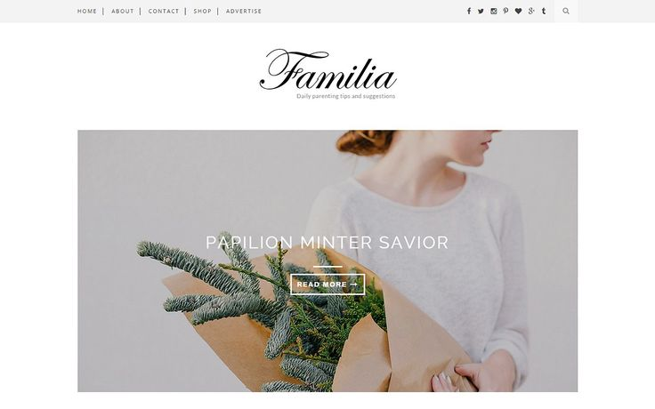 Familia - Clean Blogger Template by Themexpose on @creativemarket
