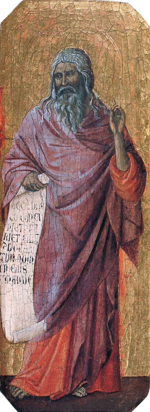 1308 - Prophets. Isaiah, by Duccio di Buoninsegna (Italian, Siena, ?-1319) Medium: wood, tempera. Italian Proto-Renaissance