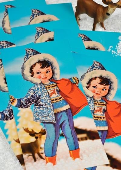Winteraanbieding!  10x Emma Winter voor 10 euro. Popjes Art.
