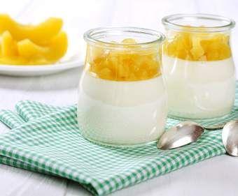 Rezept Kokos Limetten Panna Cotta mit Mango-Topping von Magal - Rezept der Kategorie Desserts