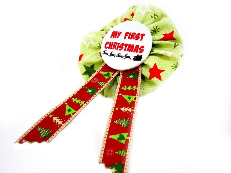 MY FIRST CHRISTMAS Orden Baby Weihnachten Button von www.annesvea.de