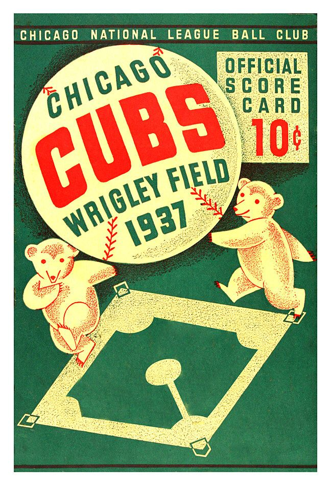 "Chicago Cubs 1937  Wrigley Field score card print - 13""x19"" or 24""x36"" - Cubs fan gift - Chicago sports bar decor - Fathers Day gift for Dad by aswegoArts on Etsy https://www.etsy.com/listing/226112904/chicago-cubs-1937-wrigley-field-score"