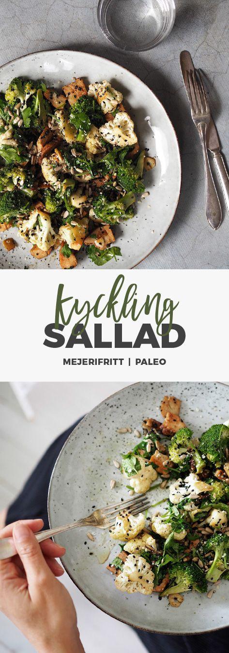 Recept: Laga mat med rester. Kycklingsallad Paleo