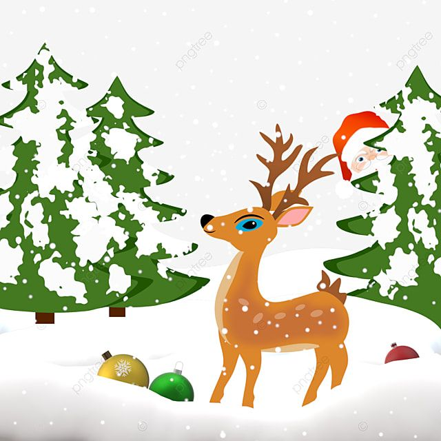 Christmas Snow Scenery Santa Reindeer Snow Png Transparent Clipart Image And Psd File For Free Download Christmas Snow Snow Illustration Christmas Border