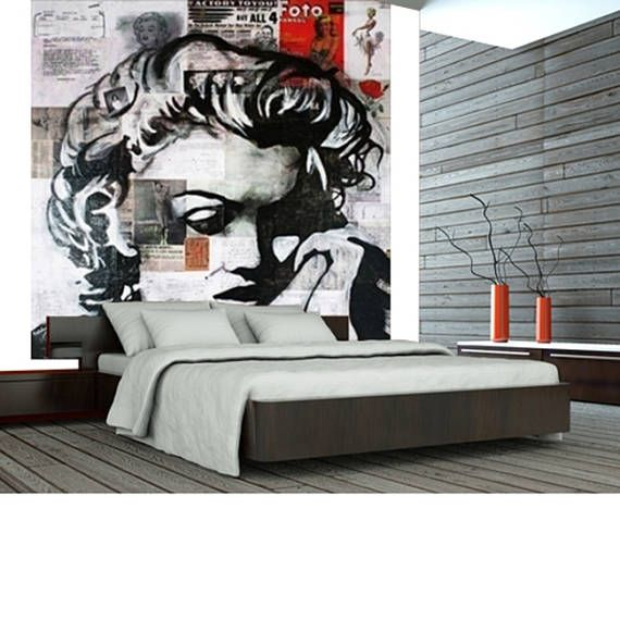 Wall Paper Wall Covering Stick Poster Wallpaper Marilyn