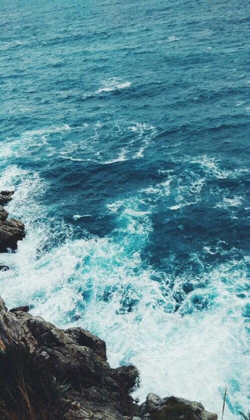 Beach Beautiful Blue Calm Ocean Rocks Sea Summer