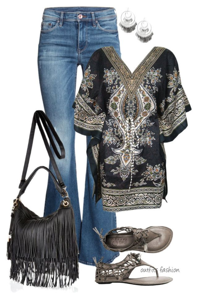 """Add Some Flare"" by rosipolooyas on Polyvore featuring moda, H&M, River Island y R.J. Graziano"