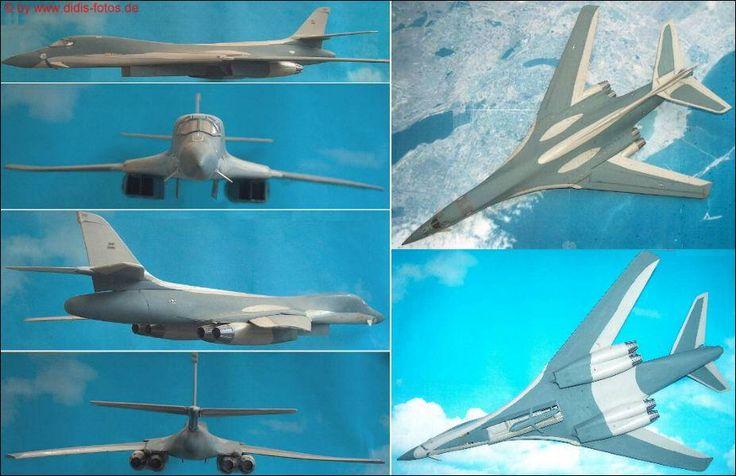 """Rockwell B-1A """"Lancer"""" ohne Fahrwerk mit Cruise-Missile (Monogram 5605) 1:72"""