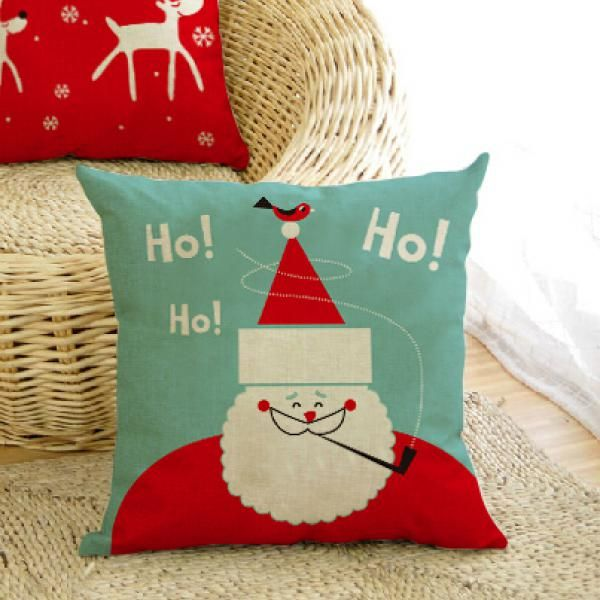 Santa Pillow Outdoor Decorative Christmas Pillows Square