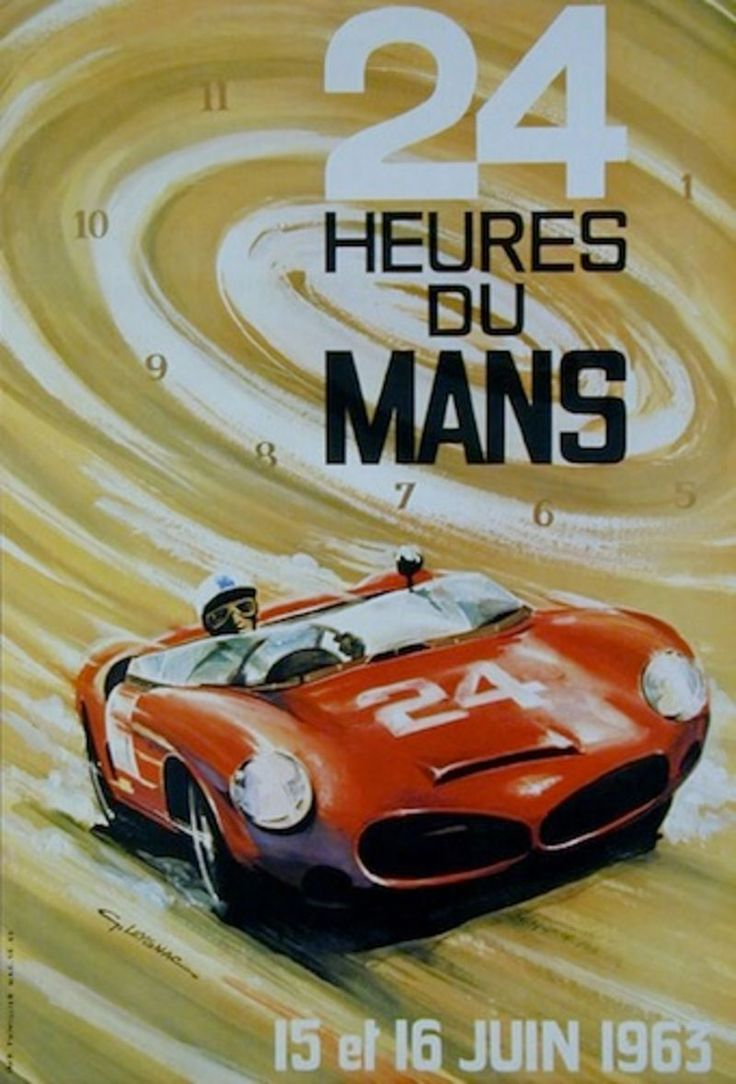 84 best auto racing vintage posters images on pinterest car