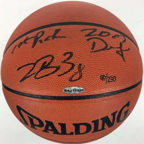 LeBron James Signed Autographed 2003 First Draft Pick Basketball UDA Upper Deck