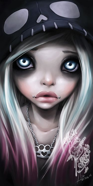 Art By Asurocks  Gothic Art  Art, Emo Art, Goth Art-4158