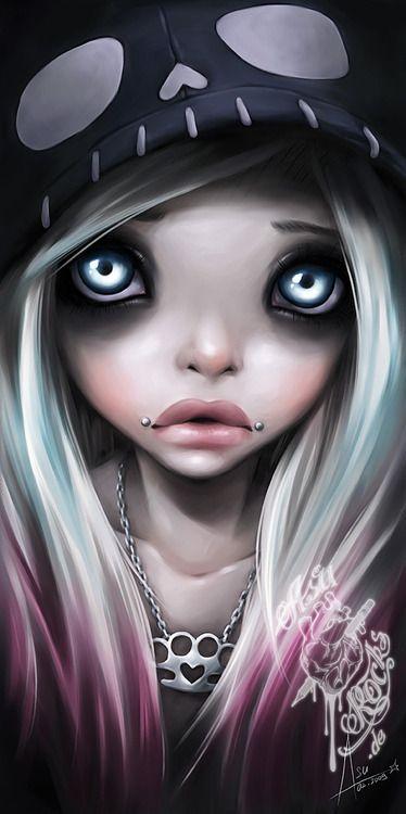 Art By Asurocks  Gothic Art  Art, Emo Art, Goth Art-9788