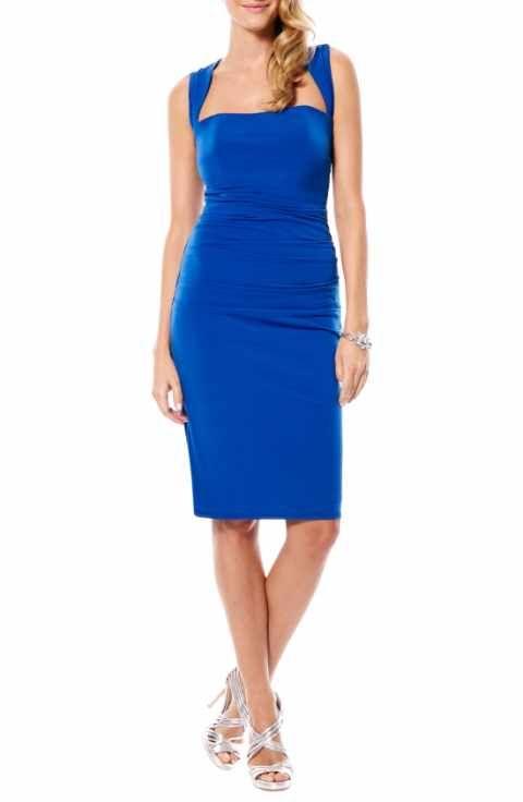 LAUNDRY BY SHELLI SEGAL  3526 Twist Back Jersey Body-Con Dress. Taille 44.