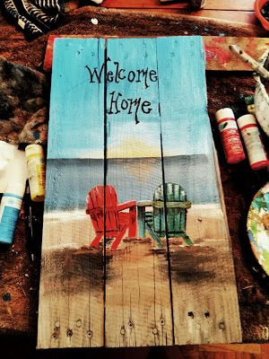 Custom Wooden Pallet Paintings: Pallet Paintings