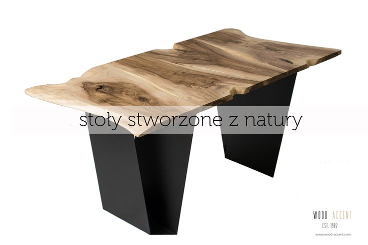 Coffee table of 120 x 80 cm. Made from the European Walnut wood. Table legs in a form of straight sheet metal from powder-coated steel. A tabletop combined with four twin boards. The table with beautiful drawing and cracks enriched with dovetails.