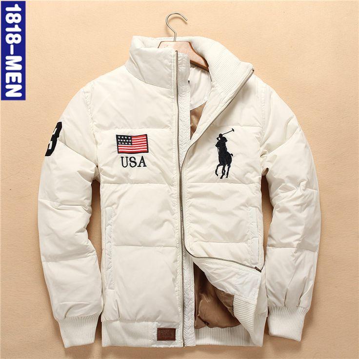 Бесплатная доставка!!! мужская новая зимняя 90% белая утка пуховик толщиной теплое пальто холодно молодежная мода/S-XXL