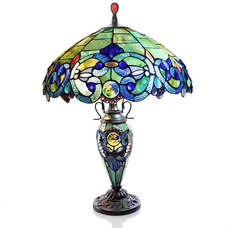"Victorian Style Double Lit 26"" H Table Lamp with Bowl Shade"