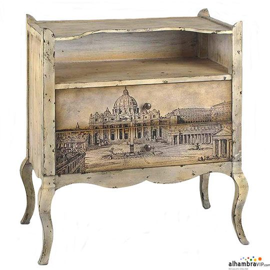 Mueble vintage decoupage pinterest vintage for Como pintar un mueble oscuro en blanco envejecido