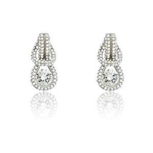 """Elegant Fashion Earrings with Genuine Sterling Silver w/ CZ """"Love Knot"""" w/ Center CZ design - Incl. ClassicDiamondHouse Free Gift Box & Cleaning Cloth ClassicDiamondHouse. $59.81. One more thing, you'll have a free jewelry care cloth for every purchase. A beautiful piece jewelry box for free to secure the item. A memorable surprise to your loved ones that would bring bliss to their faces. Amazing craftmanship of genuine Sterling silver earrings!. Accessorize your wardrobe..."""
