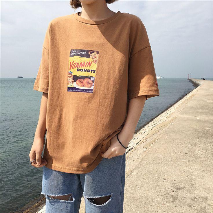Mulher clothing camiseta de verão 2017 coreano ulzzang harajuku impressão desenho animado t shirt de manga curta para as mulheres camisas casual tops em Camisetas de Das mulheres Roupas & Acessórios no AliExpress.com | Alibaba Group