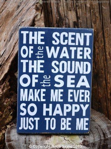 Sea Quote Sayings on Wood - Beach Décor - Beach Sign - Nautical Theme - $ Ocean - Wood Sign - Beach House Room Nauti Wood Signs www.nautiwoodsigns.com