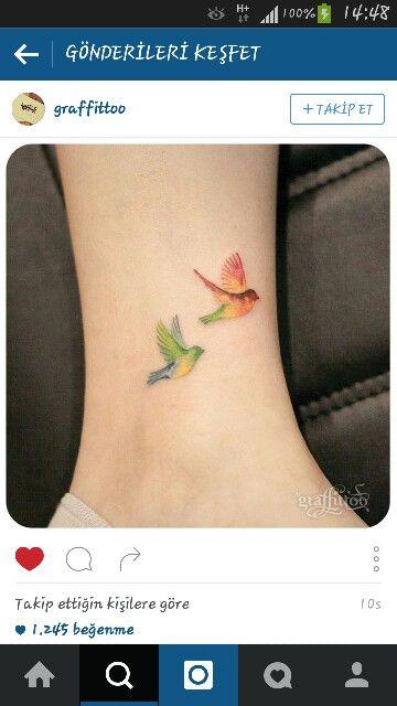 Birds tattoo small tattoo                                                       …