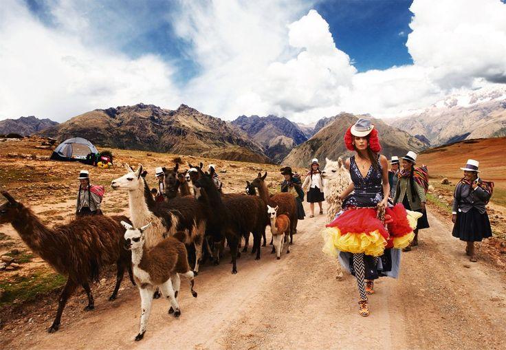 Daria Werbowy, Cusco (Mario Testino, 2007)