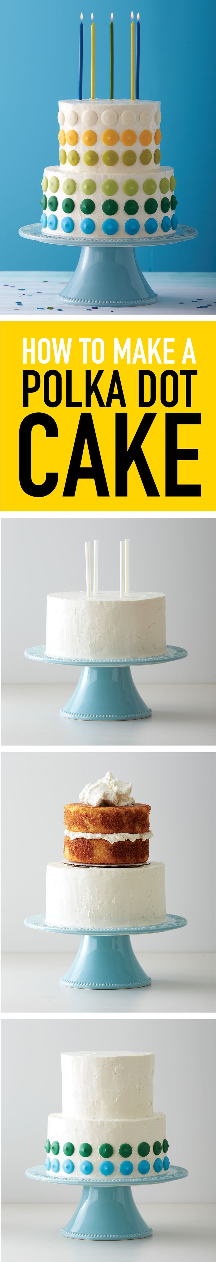 Follow these simple directions to assemble a pretty birthday cake to serve on the big day!