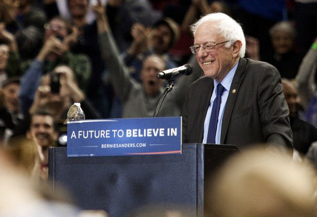 A Bird Lands On Bernie Sanders' Podium, And A Disney Princess Meme Takes Flight