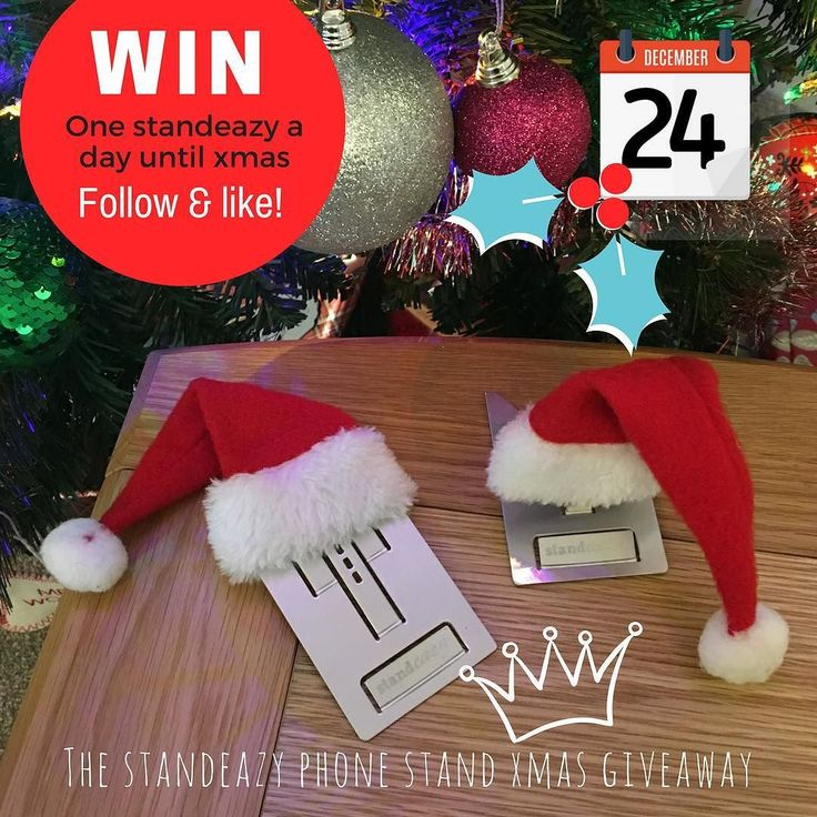 Tomorrow is Xmas day! Follow and like to #WIN a Standeazy phone stand sky blue! Today's winner will be announced tomorrow. Good luck! Per Instagram rules we must mention this is in no way sponsored administered or associated with Instagram Inc. By entering entrants confirm they are 13 years of age release Instagram of responsibility and agree to Instagram's term of use. No purchase is necessary. Simply follow and like to be entered!  #Standeazy is the perfect accessory for your #iphone…