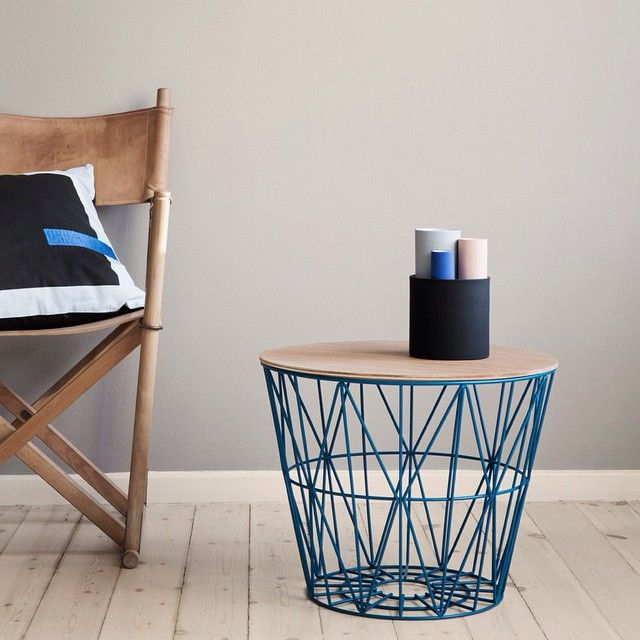 """BAM! NEW Season @fermliving Wire Basket in the most STUNNING shade of Petrol BLUE.  BOOM! Take any of our Wire Baskets and add our newly restocked Light oiled BASKET TOP and you've got yourself more storage...PLUS a Side Table, a Bedside Table or a place to sit your snacks. Mmmm Snacks. Team DS. X #designstuff #danishdesign #instock #fermlivingwirebasket"" Photo taken by @designstuff_group on Instagram, pinned via the InstaPin iOS App! http://www.instapinapp.com (05/29/2015)"