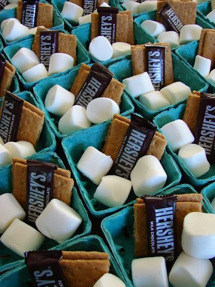 Smores! Serve at a party, is delightful. #smores #party #food
