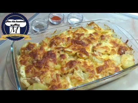 Cartofi gratinati cu piept de pui - YouTube