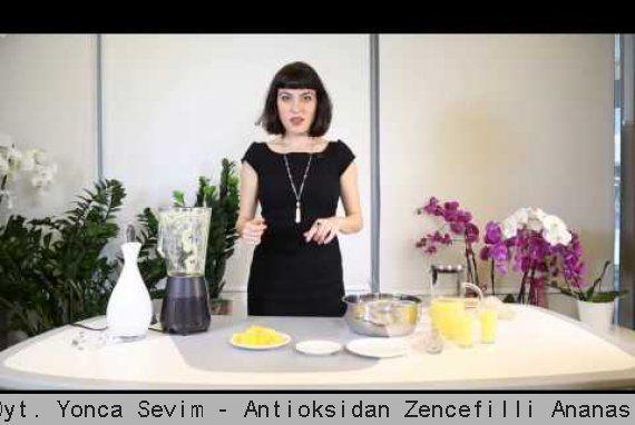 Uz. Dyt. Yonca Sevim - Antioksidan Zencefilli Ananas Suyu