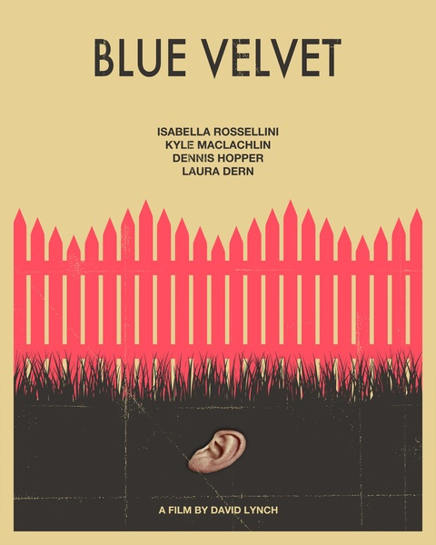 Blue Velvet Movie Poster (Hot Pink Version) Art Print by JazzBerryBlue