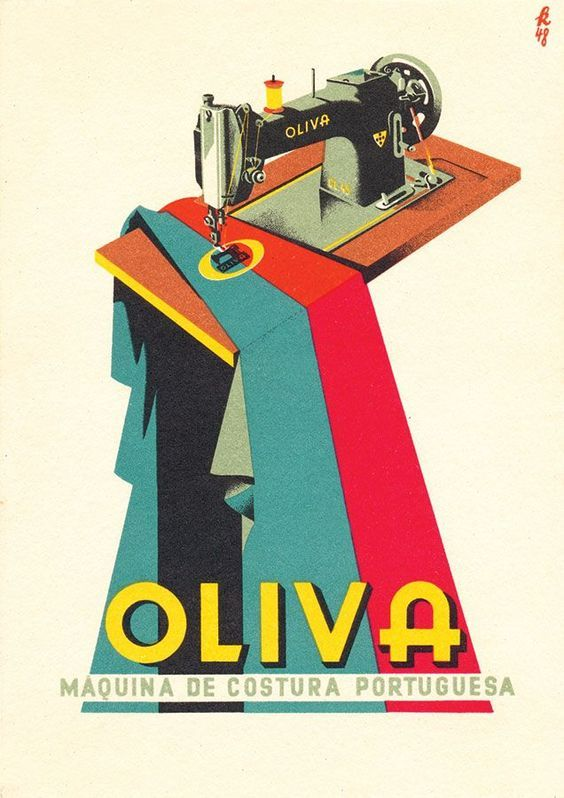 Oliva Sewing Machines vintage advertisement ~ Fred Kradolfer