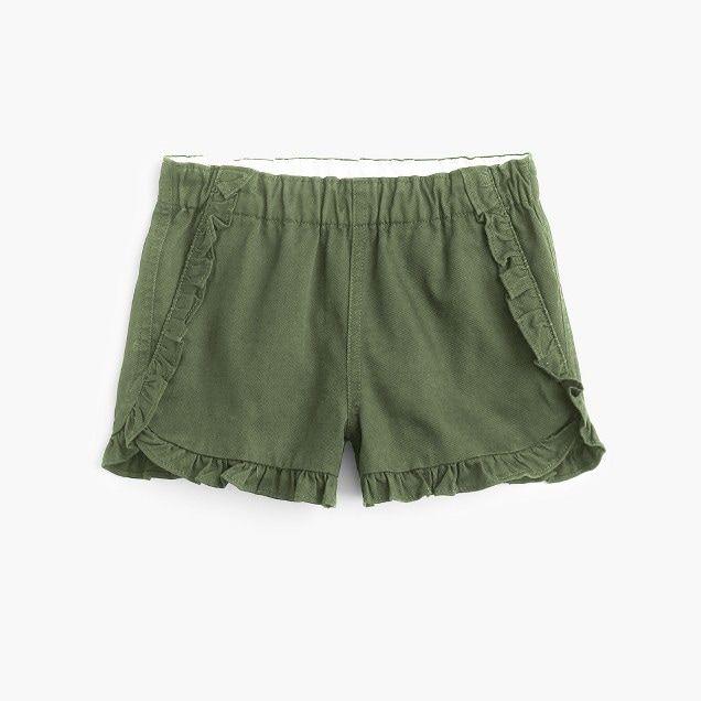 girls' ruffled pull-on short - girls' shorts