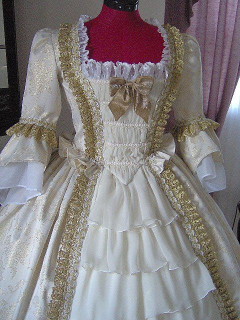 for orders only custom made 1700s colonial dress 1770s