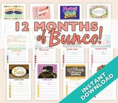 Bunco Theme party ideas.                                                                                                                                                     More