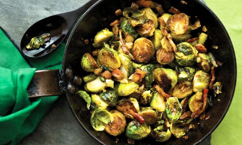 Roasted Brussels Sprouts WithBacon   ~ Bacon may make Brussels sprouts taste better, but these Brussels sprouts have their own sweet, earthy charm, too. When roasted in the oven with bacon, the results are stunning.