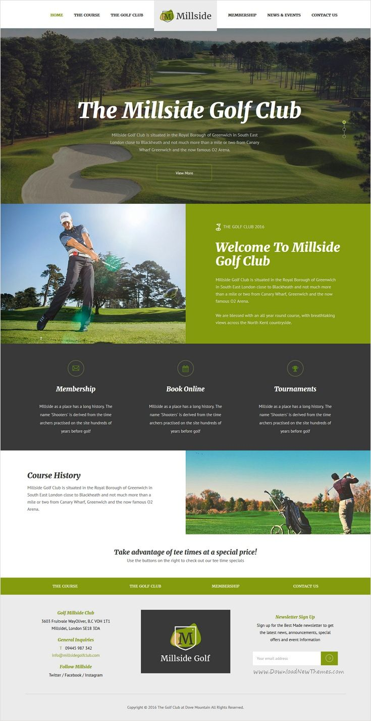 The 17 best images about Golf club website ideas on Pinterest