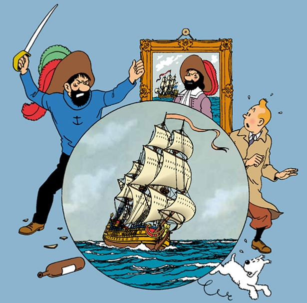 3 of my dearest book character buddies: The volatile but loveable old sailor, Captain Haddock; TinTin, the young reporter and Snowy the dog. Their adventures were hilariously priceless