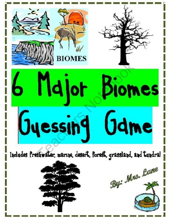 6+Major+Biomes+Guessing+Game!+(Great+Center+or+Workstation ...
