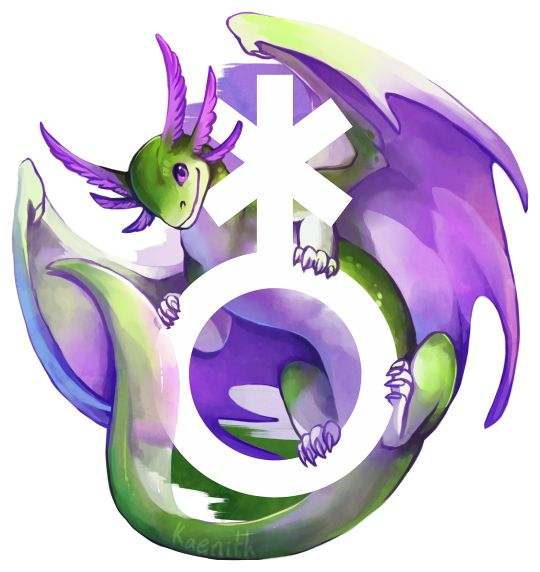 This week's pride dragon is for genderqueer pride!The completed dragons in this series in progress can be found here, and the to-do list is here!This design is also available on TeePublic and Redbubble.