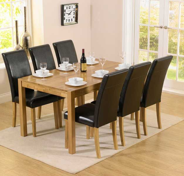 Shop The Oxford Solid Oak Dining Table With Albany Brown Chairs At Furniture Superstore Quick Delivery APR Available