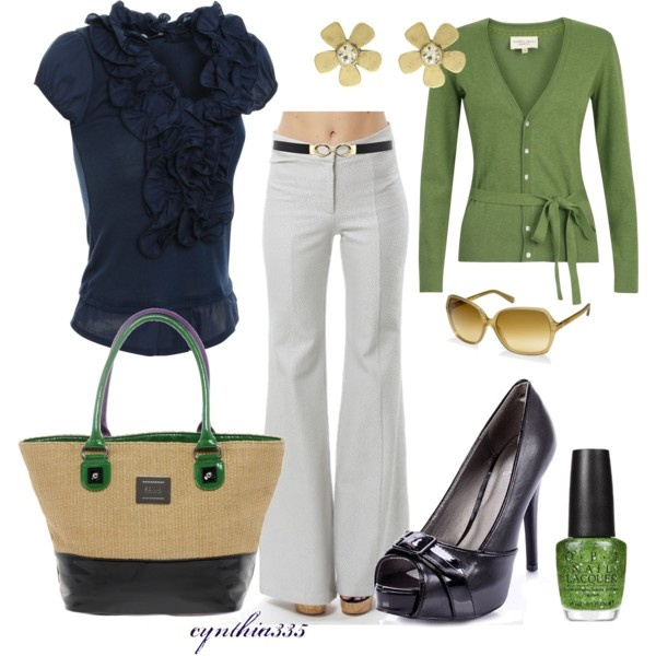 Green, blue and white: Shoes, Colors Combos, Green, White Pants, Nails Polish, Work Outfits, The Navy, Spring Outfits, Nautical Twists