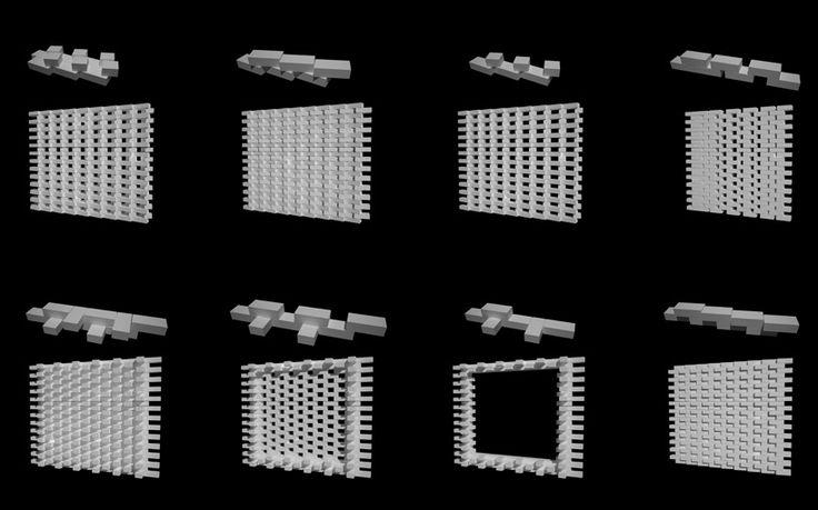 younghan chung + studio archiholic: poroscape in seoul. Brick screen. Brick pattern. Brick detailing.