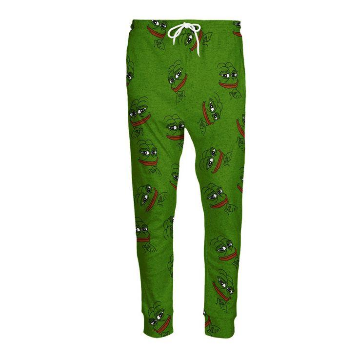 3D Pepe Джоггеры мужские/женские Забавный мультфильм тренировочные штаны модная одежда штаны осень зимний стиль Брюки Dropshipping купить на AliExpress